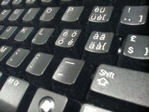 how to turn on accents on keyboard
