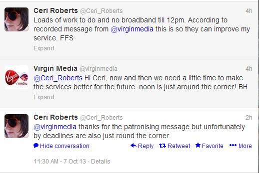 Virgin Media's poor tone of voice