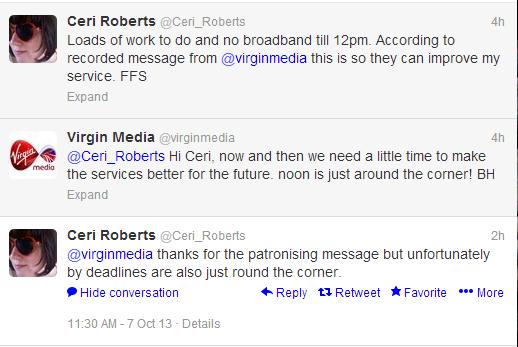 Virgin Media's poor tone of voice
