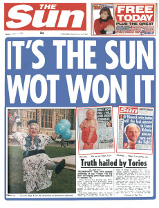 Sun front page 1992